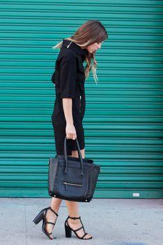 All black + boxy #ootd : http://takeaim.nu/boxy-black-dress/
