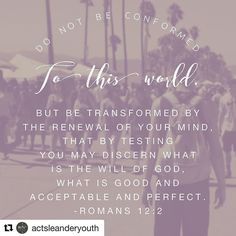 #Repost @actsleanderyouth with @repostapp  #100BibleVerses  There are many distractions in the world today and it's so easy to get caught up and forget #Jesus and what he's done for us. Allow him to transform your mind your actions your thoughts and he will renew you and make you new. His will is so much better than anything this world has to offer. Remember He is the living sacrifice. Follow Him.  Shared by Reagan Keller.