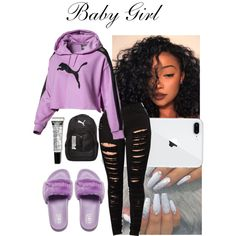 Say Goodbye-Chris Brown - Puma Backpack - Ideas of Puma Backpack - A fashion look from October 2017 featuring Puma backpacks. Browse and shop related looks. Swag Outfits For Girls, Boujee Outfits, Cute Comfy Outfits, Teenage Girl Outfits, Cute Outfits For School, Cute Casual Outfits, Teenager Outfits, Dope Outfits, Stylish Outfits