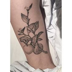This pretty lemon branch. | 21 Botanical Tattoo Designs You're About To Be Obsessed With