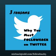 Why You Must FOLLOWBACK on TWITTER