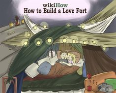 How to Build a Love Fort. Growing up, building a fort was a fun and easy way to hide out and escape the real world. Build a fort for your. Cabana, Homemade Forts, Living Room Fort, Indoor Forts, Diy Fort, Build A Fort, Home Movies, Tent Camping, Dating