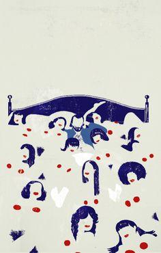 Emiliano Ponzi  L'immagine della copertina di Scrivo poesie solo per portarmi a letto le ragazze di Charles Bukowski, pubblicato da Feltrinelli nel 2012