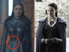 'Game of Thrones': Hidden meanings in Sansa's Queen in the North gown - INSIDER Game Of Thrones Sansa, Game Of Thrones Cosplay, Game Of Thrones Costumes, Game Of Thrones Dress, Got Costumes, Theatre Costumes, Movie Costumes, Sansa Stark Costume, Stark Children