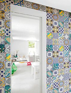 Moroccan tiled wall