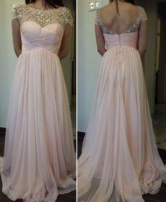 Sweetheart empire waist evening dress