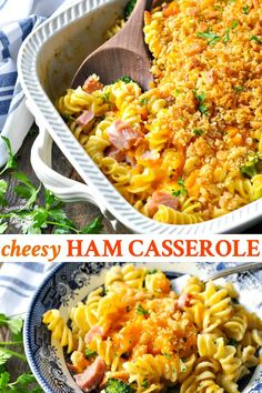 This cheesy Ham Casserole with noodles and broccoli is an easy dinner recipe to throw together on busy weeknights. Use up leftover ham or buy cubed ham! Recipes With Ham Cubes, Leftover Ham Recipes, Leftovers Recipes, Easy Dinner Recipes, Easy Meals, Dinner Ideas, Leftover Turkey, Healthy Dinners, Ham Casserole