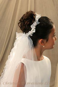 communion veils | First Communion Veils-Leah
