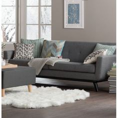 Living Room Decoration Ideas For The Black And White Lovers Living Room Modern, Home Living Room, Living Room Furniture, Living Room Designs, Living Room Decor, Tiny Living, Simple Living, Cleveland Sofa, H & M Home