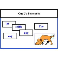 Cut Up Sentences Reading Activity level 1