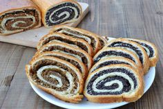 Sliced Poppy Seed And Walnut Rolls Stock Image - Image of bread, sweet: 36206437 Raisin, Goodies, Rolls, Bread, Homemade, Ethnic Recipes, Sweet, Desserts, Easter Cake