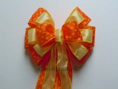Orange Yellow Wedding Party Decoration Bow by greentraderllc,