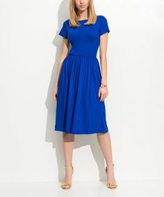 Take a look at this Cornflower A-Line Dress today!