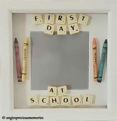 First day at school or nursery scrabble frame