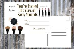 Etsy Business Cards, Young Living Business, Savvy Minerals, Essential Oil Uses, Party Makeup, Party Invitations, Make Up, Lipstick, Unique Jewelry