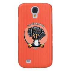#Animals                                        Tricolor D Dachshund IAAM Samsung Galaxy S4 Cover                   It's all about the smooth d Dachshund! Original design for merchandise by Andie of Off-Leash Art using her own hand drawn illustration. Andie aims to capture the unique characteristics of each breed so that more people will have the opportunity to own something that has a drawing that looks like THEIR dog...
