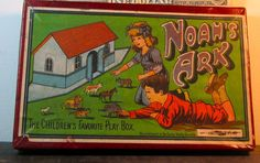 Most Unusual Small Size - Paper Litho Noah's Ark
