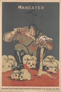 A propaganda poster designed in the Soviet Union for use in Great Britain during the war - September 1941.