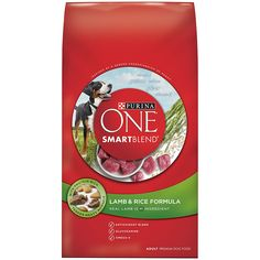 Purina ONE Adult Small Bites Beef & Rice Formula Dry Dog Food helps Support Strong Muscles - Including A Strong Heart. Purina ONE Adult Small Bites Beef & Rice Formula Dry Dog Food is Vitamin Fortified For A Long, Healthy Life. Purina One Dog Food, Large Breed Puppy Food, Dry Dog Food, Pet Food, Formula 1, Dog Storage, Premium Dog Food, Dog Food Brands, Rice