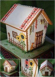 "Сімейна майстерня ""Хочупряник"". Херсон. Gingerbread Cookies, Gingerbread Houses, Cookie House, Ukrainian Recipes, Food And Drink, Bird, Sweet, Outdoor Decor, Decorations"
