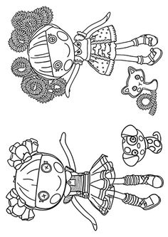 lalaloopsy coloring pages coloring pages pinterest lalaloopsy felting and dolls
