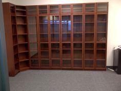 shelves my cousin put up- a beautiful library has begun !