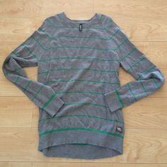 Men's sweater Men's sweater. Grey & green. In perfect condition. RVCA Sweaters