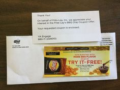 Free Lay's BBQ Chips #freestuff #freebies #samples #free
