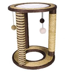 Ware Seagrass Kitty Playground N Lounge Scratching Post - Spoil your cat with this Ware Mfg. Seagrass Kitty Playground N Lounge Scratching Post, which is basically a Six Flags of feline entertainment structur. Furniture Scratches, Pet Furniture, Diy Cat Tree, Cat Playground, Cat Scratching Post, Cat Scratcher, Cat Room, Cat Accessories, Cat Supplies