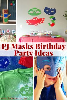 PJ Masks Birthday Party Ideas-Roundup of ideas for a fun PJ Masks party! From games to food and all the decorations!