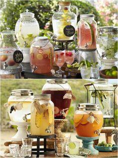 10 Estações de Bebidas com Suqueiras | Blog de Casamento DIY da Maria Fernanda
