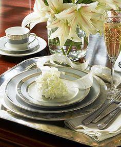 Lauren Ralph Lauren Dinnerware, Silk Ribbon Slate Collection - Fine China - Dining & Entertaining - Macy's Bridal and Wedding Registry
