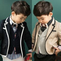 Online Shop Free Shipping new 2014 spring preppy style boys blazers kids long-sleeve suit THIN T0001|Aliexpress Mobile