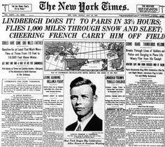 Charles Lindbergh's accomplished first flight