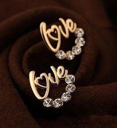 Love Heart Earrings.  Cute beautiful women fashion trendy cute Love Heart Earrings. women's stud earrings, check it now!!