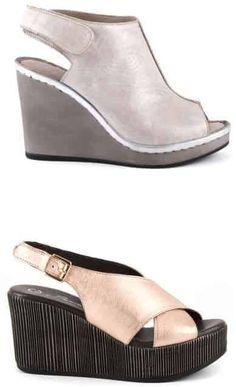 Sandale Damă cu platforma Medie | Medium-heeled sandals for women - alizera Heeled Sandals, Wedges, Medium, Casual, Shopping, Shoes, Women, Fashion, Sandals