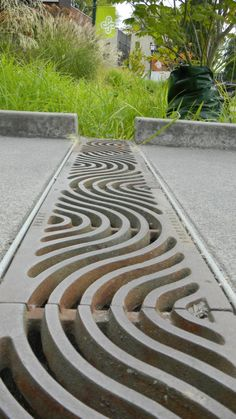 Drain Grate Detail, Walk of the Heroines – Portland State University, Portland, OR