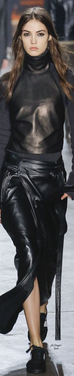 Diesel Black Gold - Fall 2017 skirts womens, skirts womens clothing for sale , women's skirts and dresses, women's skirts australia, women's skirts below knee. 2010s Fashion, Fashion 2017, Womens Fashion, Leather And Lace, Black Leather, Black Gold, Camille Hurel, Leather Dresses, Leather Design