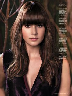 Our Gorgeous Mocha Brown Hair for @Janet Russell-Snider Salon [Fall 2013 Collection: Autumn Enchantment]. Hair Color Formula: 4MO (1oz), Grey Concentrate (1oz), Silver Concentrate (1oz) with micro-highlights through bangs, mids, and ends.