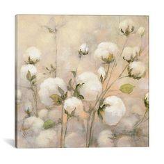 Trademark Global Julia Purinton 'Cotton Field' Multi Panel Art Set - 24 x 32 x 2 Canvas Artwork, Canvas Art Prints, Painting Prints, Canvas Wall Art, Art Paintings, Acrylic Canvas, Watercolor Painting, Cotton Bouquet, Cotton Painting