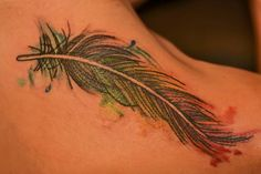 Colorful Feather by Debi at the Illustrator Tattoo.