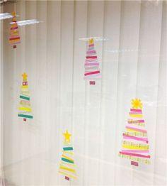 Christmas crafts washi tape window decoration 1