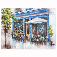 Πίνακας Μαγαζί μπλε-καφέ Painting, Art, Art Background, Painting Art, Paintings, Kunst, Drawings, Art Education
