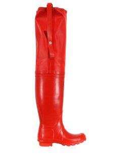 Kırmızı uzun Hunter - HUNTER | Hipnottis  Daha fazlası:  http://www.hipnottis.com/tasarim-cizme/hunter-kirmizi-uzun-hunter