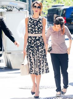 Amal Clooney Is Gorgeous in Ladylike Florals | InStyle.com