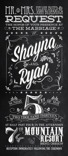 Wedding Invitations #design #inspiration #typography
