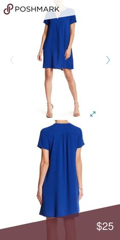 Lush split neck  dress NWT!!! Fun and classy- royal blue Lush split neck dress from Nordstrom.  This swinging split neck shift is lined for extra flounce. It has short sleeves and slash pockets. Lush Dresses