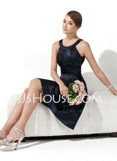 Bridesmaid Dresses - $94.49 - A-Line/Princess Halter Knee-Length Satin Bridesmaid Dress With Ruffle (007000943) http://jjshouse.com/A-Line-Princess-Halter-Knee-Length-Satin-Bridesmaid-Dress-With-Ruffle-007000943-g943