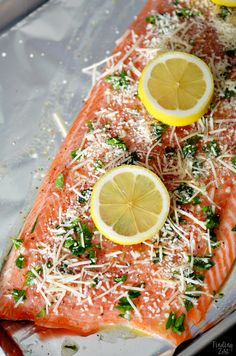 This baked steelhead trout recipe is an easy dinner option and a great alternative to salmon! Loaded with fresh Parmesan cheese, fresh parsley, lemon and garlic, it is sure to become one of your favorite baked fish recipes! Tilapia Recipes, Salmon Recipes, Fish Recipes, Seafood Recipes, Cooking Recipes, Cooking Stuff, Baked Fish, Baked Salmon, Dinner Ideas