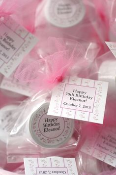 Big birthdays deserve big celebrations. Whether you're marking the 40th, 50th, or 90th, find special birthday party favors to share with your guests. Lip balms come in lots of popular flavors, and designs can be customized with your favorite colors and sentiments.